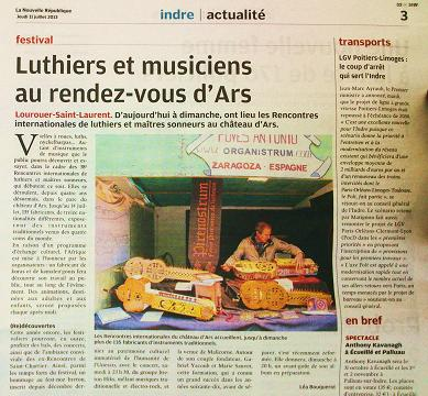 rencontres luthiers ars
